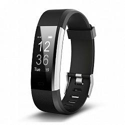 NEOGO SmartBand ID115 Plus HR, okoskarkötő, fekete