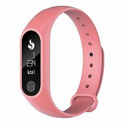 NEOGO SmartBand M2 Plus, okoskarkötő, rózsaszín