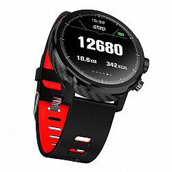 NEOGO SmartWatch LS5, okosóra, fekete/piros