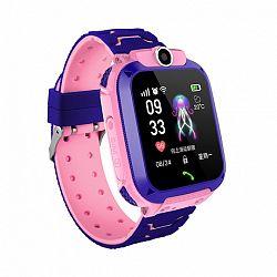 NEOGO SmartWatch QS12 LBS, okosóra gyerekeknek, rózsaszín