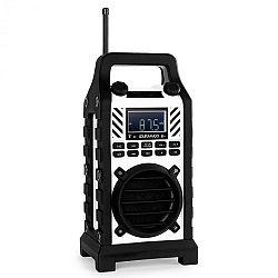 OneConcept Duramaxx 862-BT-WH, építkezési hangszóró, fehér, MP3, USB,SD