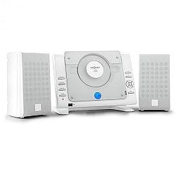 OneConcept Vertical 70, sztereó rendszer, CD, USB, MP3, AUX, fehér