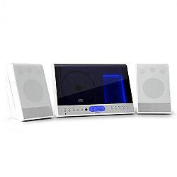 OneConcept Vertical 90, sztereó rendszer, CD, USB, MP3, SD, AUX, fehér