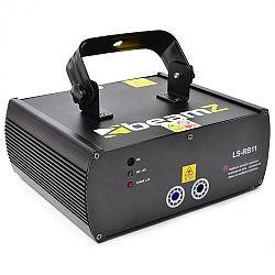 Piros-kék laser Beamz LS-RB11, gobo, DMX