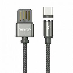 Remax Gravity RC-095a mágneses USB / USB Type C kábel LED lámpa 1M 2.1A Fekete