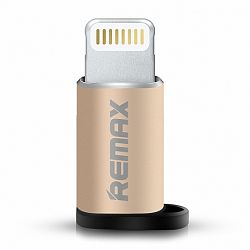 Remax RA-USB2 adapter Micro USB - Lightning, arany