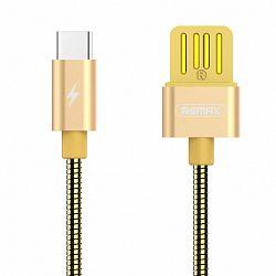REMAX RC-080a Silver Serpent kábel USB / USB-C 2.1A 1m, arany