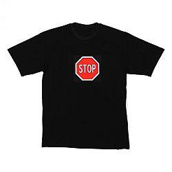Resident DJ LED póló Stop, L méret