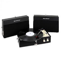 Ricatech RT80, vintage lemezjátszó, fekete, AUX