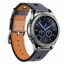 Samsung Gear S3 Leather Italy szíj, Dark Gray