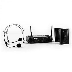 Skytec STWM712H, mikro VHF vezeték nélküli mikrofon szett, 2 x headset mikrofon