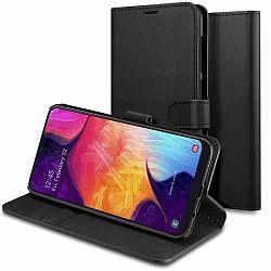 Spigen Wallet S Saffiano könyv tok Samsung Galaxy A50, fekete (611CS26267)