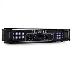 SPL500 DJ/PA erősítő Skytec, 500W, LED, ekvalizér