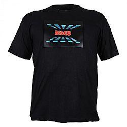 Summary LED rövid ujjú póló 3 színű Disco Design, méret: L