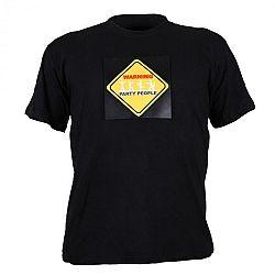 Summary LED rövid ujjú póló 3 színű Warning Party People, méret: XL