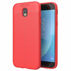 Szilikon tok Litchi Pattern Samsung Galaxy J3 2017 J330, piros
