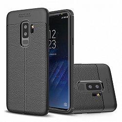 Szilikon tok Litchi Pattern Samsung Galaxy S9 Plus, fekete