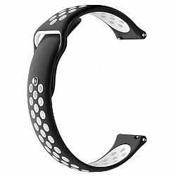 Xiaomi Amazfit Bip Silicone Sport szíj, Black/White