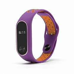 Xiaomi Mi Band 2 Silicone Sport szíj, Purple/Orange