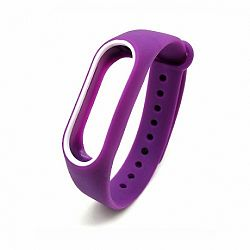 Xiaomi Mi Band 2 Silicone szíj, Purple/White