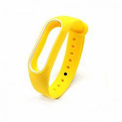 Xiaomi Mi Band 2 Silicone szíj, Yellow/White