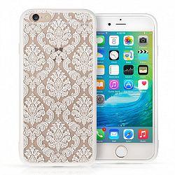 YouSave műanyag tok Damask TPU Hard iPhone 6/6s Fehér
