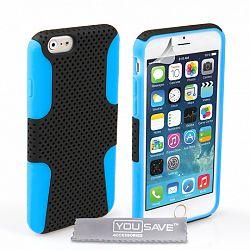 YouSave szilikon tok Mesh Combo iPhone 6/6s Kék/Fekete