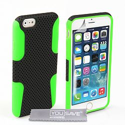 YouSave szilikon tok Mesh Combo iPhone 6/6s Zöld/Fekete