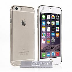 YouSave szilikon tok Smoke Ultra Thin Gel iPhone 6/6s Szürke