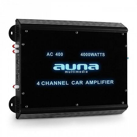 4-csatornás autóba alkalmas erősítő Auna, 4000 W