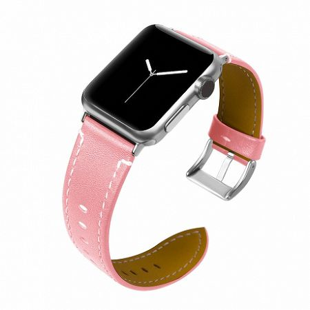 Apple Watch Leather Italy 42/44mm szíj, Pink