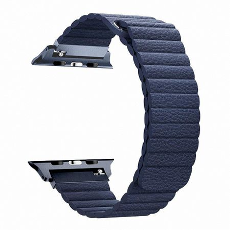 Apple Watch Leather Loop 38/40mm szíj, Dark Blue