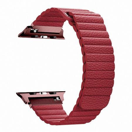 Apple Watch Leather Loop 38/40mm szíj, Red