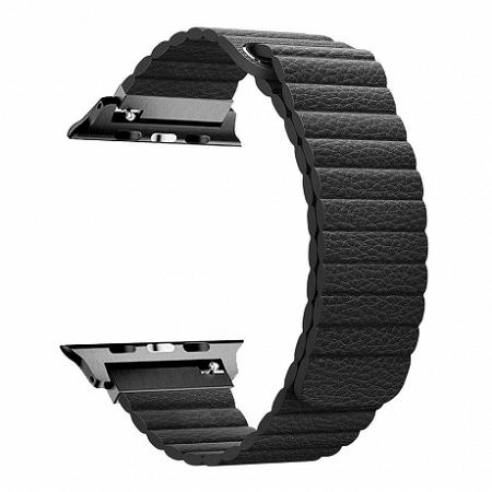 Apple Watch Leather Loop 42/44mm szíj, Black