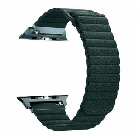 Apple Watch Leather Loop 42/44mm szíj, Dark Green