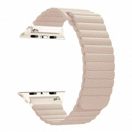 Apple Watch Leather Loop 42/44mm szíj, Khaki