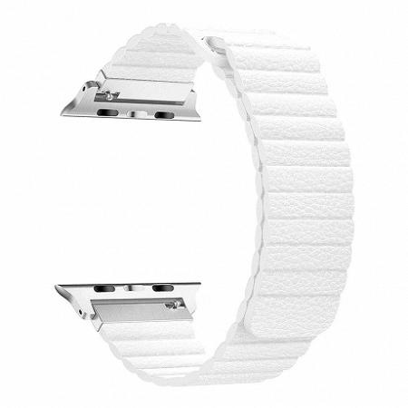 Apple Watch Leather Loop 42/44mm szíj, White