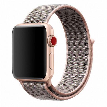 Apple Watch Nylon 42/44mm szíj, Rose Gold