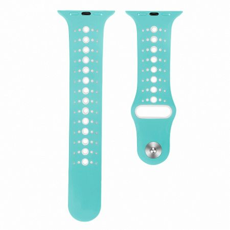 Apple Watch Silicone Sport 42/44mm szíj, Teal White
