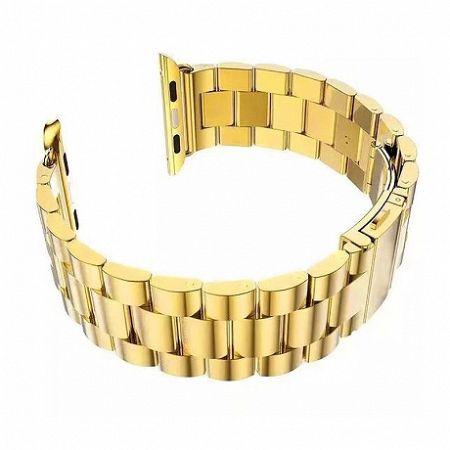 Apple Watch Stainless Steel Boston 42/44mm szíj, Gold