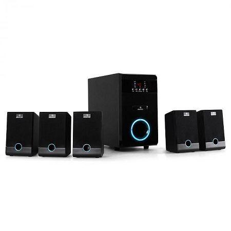Auna 5.1-J, 95W RMS, multimédiás surround hangfalrendszer, AUX aktív hangfalak , fekete