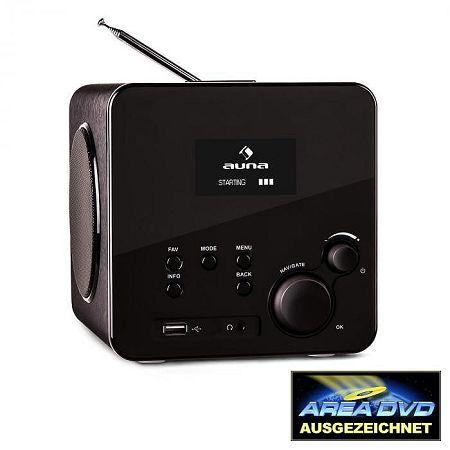 Auna Radio Gaga, internetes rádió, WLAN/LAN, DAB/DAB+, FM, USB, AUX