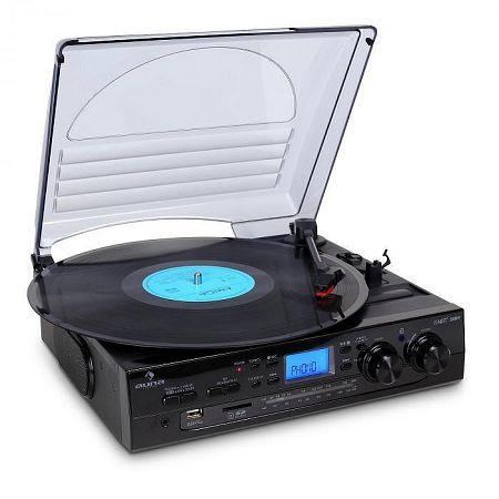 Auna TT-186E, sztereó rendszer, gramofon, USB MP3 felvételkészítés