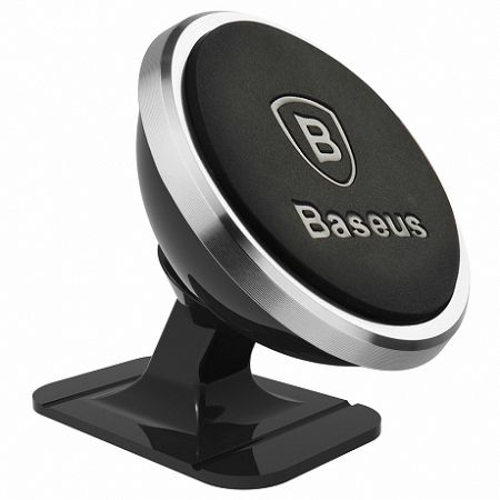 Baseus 360 mágneses autós tartó, ezüst (SUGENT-NT0S)