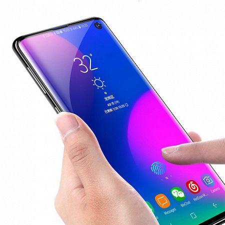 Baseus 3D Full-screen 2x Full Coverage kijelzővédő üvegfólia  Samsung Galaxy S10, fekete (SGSAS10-KS01)