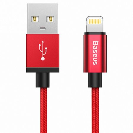 Baseus AntiLa Series Simple Version kábel USB Lightning 1M 2.4A MFI piros (CAETRTC-MF09)