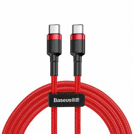 Baseus Cafule kábel USB-C / USB-C 60W QC 3.0 2m, piros (CATKLF-H09)
