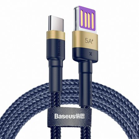 Baseus Cafule kábel USB / USB-C Quick Charge 1m, arany/kék