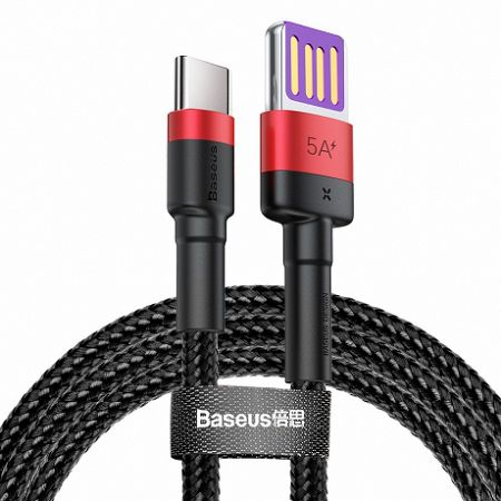 Baseus Cafule kábel USB / USB-C Quick Charge 1m, piros/fekete