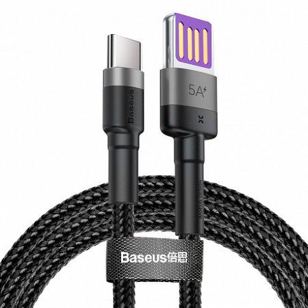 Baseus Cafule kábel USB / USB-C Quick Charge 1m, szürke/fekete